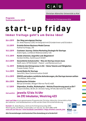 start-up friday Programm