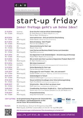 start-up friday WS 2016_17