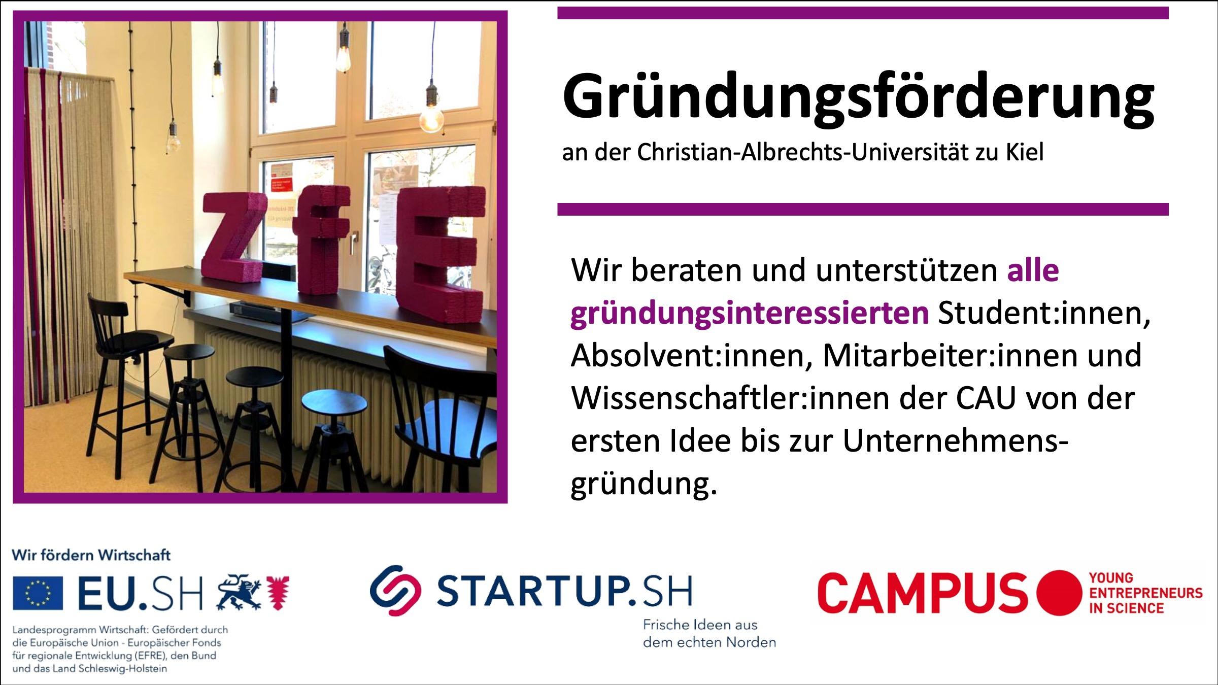 Zentrum für Entrepreneurship Startseite (Gründungsförderung an der CAU zu Kiel)