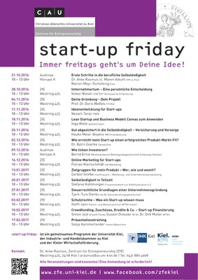 start-up friday WS 2016_17