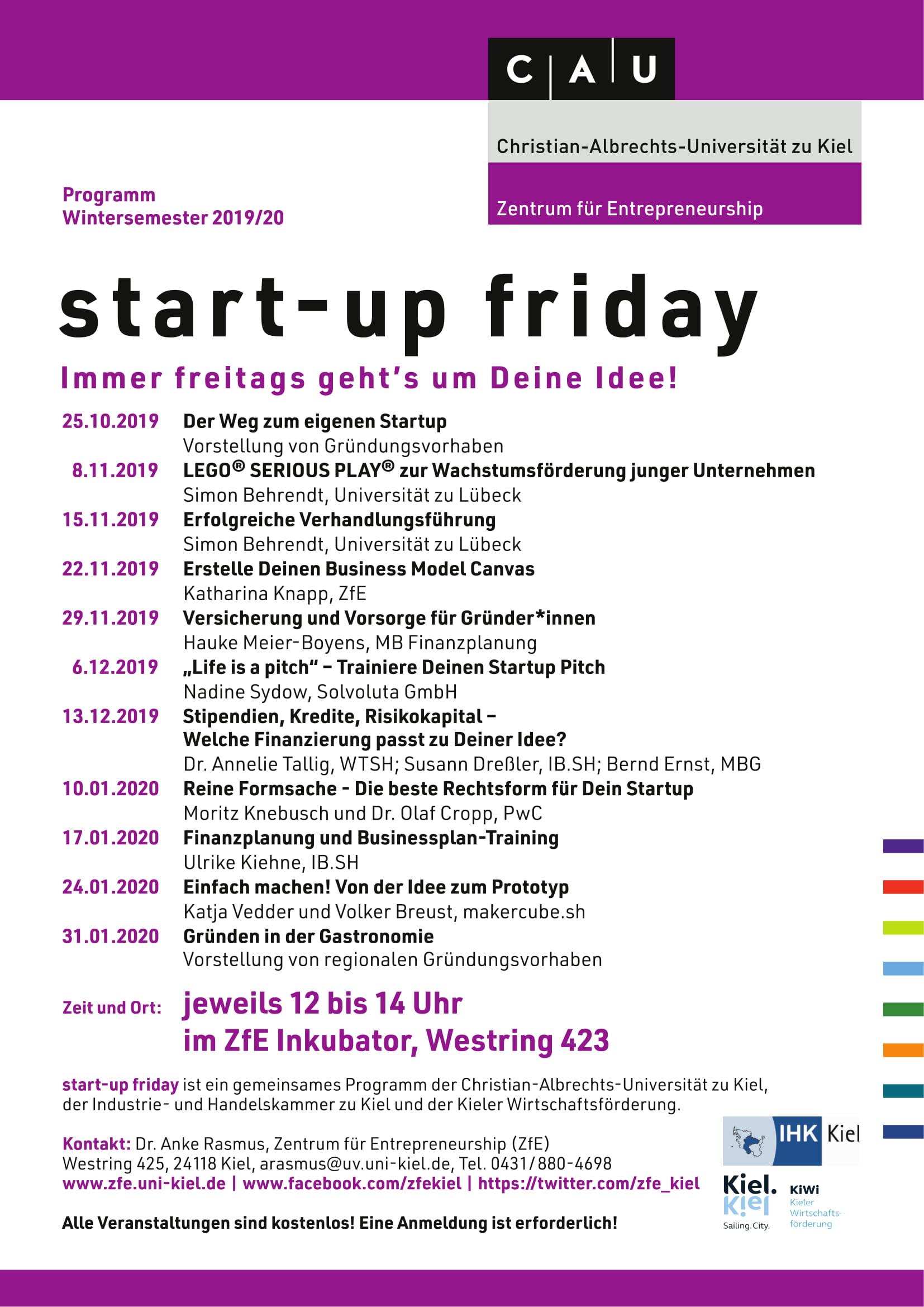 start-up friday Programm